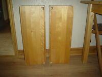 2 pine bathroom wall units.