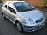 2004 Toyota Yaris 1.3 VVT-i T3 Silver 5drHatchback Manual Petrol Only 44000 miles FSH