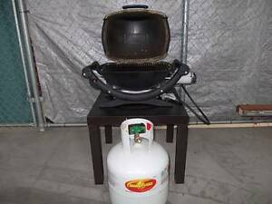 WEBER Q-100 *with gas bottle + BBQ cover   * Awesome little Web Sydenham Marrickville Area Preview
