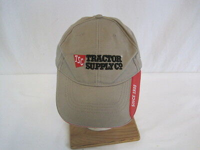 Tsc Tractor Supply Store Beige And Red Adjustable Hat  Oay69 923