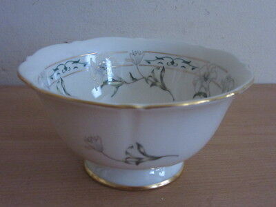 """Pickard China Footed Bowl w/ Flower Pattern 5 1/2"""""""