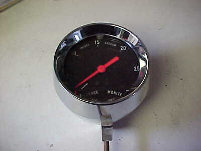 Vintage Made in USA vacuum gauge Mopar USED 1968 nice Chrome housing for sale  Mora