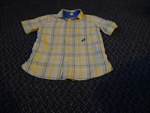Boys Size 6X Yellow Plaid Short Sleeve Dress Shirt Kingston Kingston Area image 1