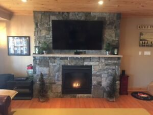 Is Your Fireplace Ready?  Real Granite Veneer, Buy Direct