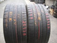 255 35 19 Michelin,Pilot Spo,Extra Load,96Y x2 A Pair, 6.3mm(450-458 Barking Road,E13 8HJ) Part Worn