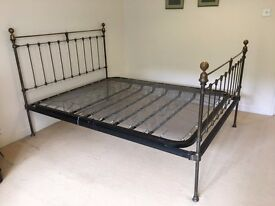 King Size Antique Style Brass Bed