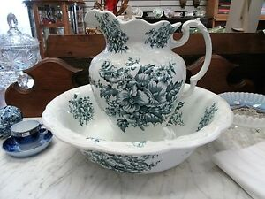 Antique Pitcher and Basin G & S Ltd Albany & Harvey Potteries London Ontario image 1