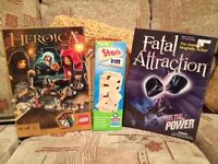Lego Heroica, Fatal Attraction and Stack 'em games