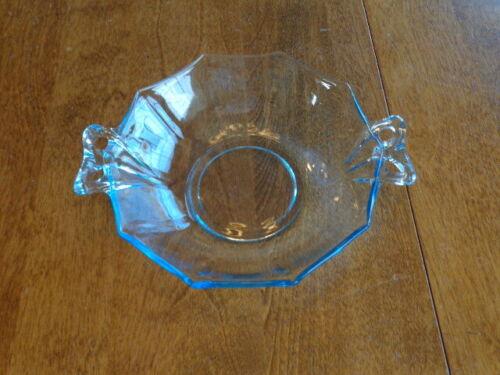 FOSTORIA GLASS FAIRFAX BLUE LARGE DESSERT BOWL