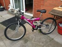 AS NEW 24IN PINK MOUNTAIN BIKE
