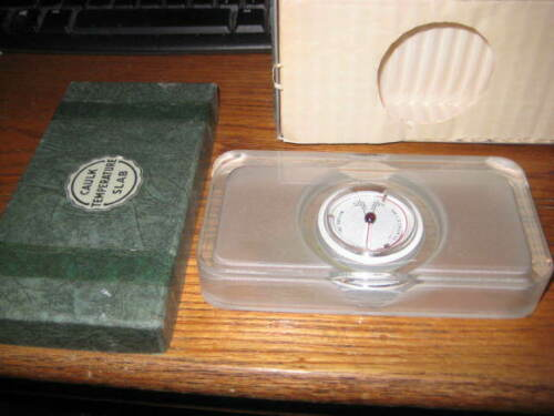 Dentsply / L.D. Caulk Glass Slab Temperature Gauge Dental Thermometer & Box