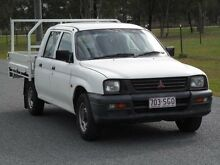 1998 Mitsubishi Triton MK GLX Double Cab White 5 Speed Manual Utility Stapylton Gold Coast North Preview