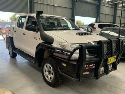 2012 Toyota Hilux KUN26R MY12 SR White Manual Cab Chassis Boolaroo Lake Macquarie Area Preview