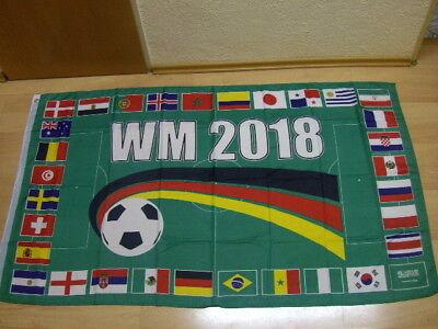 Fahnen Flagge WM 2018 Russland 32 Länder Weltmeisterschaft - 90 x 150 cm