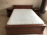 Large double bed frame and large double mattress