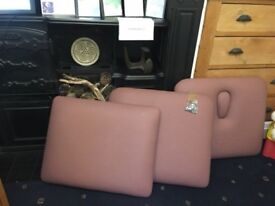 Plinth 2000 massage couch Replacement Cushion Sections with fastenings - mauve