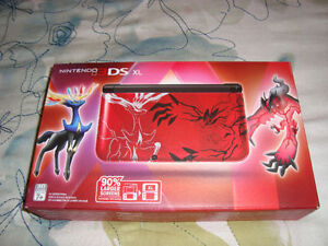 3DS XL POKEMON XERNEAS X Y RED LIMITED EDITION NEW + CASE