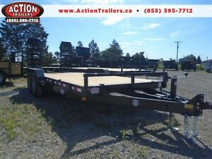 PROMO PRICE 7 TON EQUIPMENT TRAILER LOW PROFILE 7X18' 14,000LB