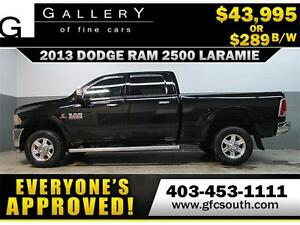 2013 DODGE RAM 2500 DIESEL *EVERYONE APPROVED* $0 DOWN $289/BW!