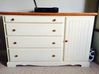 Dresser and cabinet
