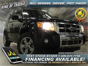 2011 Ford Escape Limited Heated Seats | PST PAID