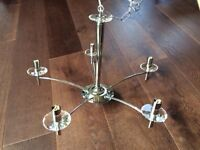 Modern Beautiful Chandelier Chrome & Crystal 5 Light Franklite New In Box