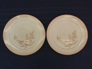 Langley Denby Normandy Pattern Stoneware Dinner Plates