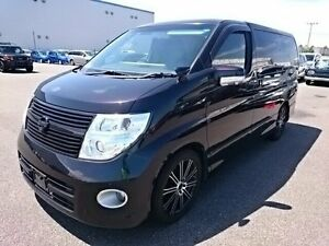 2009 Nissan Elgrand 3 Highwaystar Black 5 Speed Automatic Wagon Southport Gold Coast City Preview