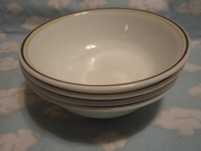 CORELLE/CORNING=SQUARED SOUP/CEREAL BOWLS=SET OF FOUR=ALL TO GO ONE PRICE !!