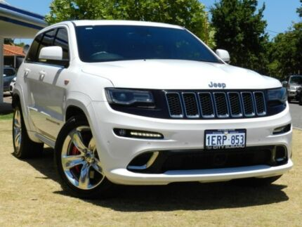 2015 Jeep Grand Cherokee WK MY15 SRT White 8 Speed Sports Automatic Wagon Victoria Park Victoria Park Area Preview
