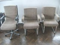 Art Deco armchairs and swivel chair. Brand - Verco