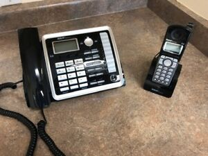 2-line Business Phone with Cordless Handset