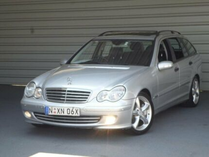 2005 Mercedes-Benz C200 W203 MY06 Kompressor Classic Silver 5 Speed Auto Tipshift Wagon Clyde Parramatta Area Preview