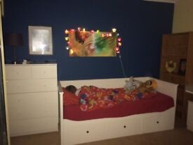 Single bed opening as double -Ikea