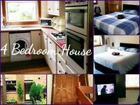 4 BEDROOM HOUSE - UP TO 10 SLEEPS - WEEKLY - MONTHLY RENTALS - TWIN & DOUBLE ROOMS - FREE WI FI
