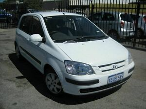 2003 Hyundai Getz CHEAP*** White 5 Speed Manual Hatchback Maddington Gosnells Area Preview
