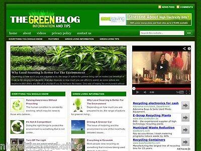 Go Green Living Recycling Niche Wordpress Blog Website For Sale