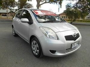 2007 Toyota Yaris NCP91R YRS Silver 5 Speed Manual Hatchback Prospect Prospect Area Preview