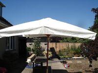 Large 3.5mtr x 2.5mtr garden parasol.