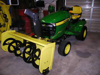 Used once!  John Deere SNOWBLOWER (only) for lawn tractor