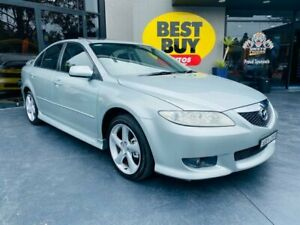 2004 Mazda 6 GG1031 MY04 Luxury Sports Silver 4 Speed Sports Automatic Hatchback Campbelltown Campbelltown Area Preview