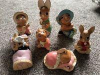 7 x Pendelfin Rabbit ornaments (£10 each) great gift