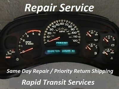 Chevrolet Suburban 2003 - 2006 Instrument Gauge Cluster Repair
