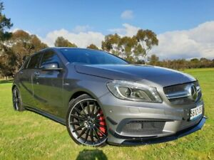 2014 Mercedes-Benz A45 W176 AMG SPEEDSHIFT DCT 4MATIC Grey 7 Speed Sports Automatic Dual Clutch Medindie Walkerville Area Preview