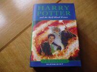 Harry Potter and the Half Blood Prince 1st Edition, Hardback.