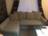 IKEA furniture house clearance 7 months old - corner sofa bed / book shelves +desks / table + chairs