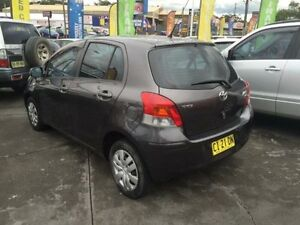 2010 Toyota Yaris NCP90R 10 Upgrade YR Graphite 5 Speed Manual Hatchback Cardiff Lake Macquarie Area Preview