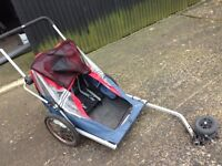 Bicycle Child Trailer Carrier Double Buggy