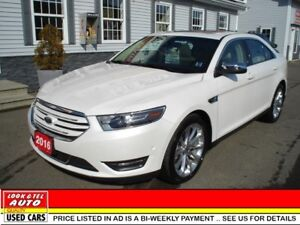2016 Ford Taurus limited $28995 financed price -0 down pymt*