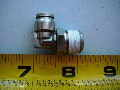 Smc Male 90 Elbow Sst Fitting 14 Tube X 14 Mnpt Hex Size 14mm Kqg2l07-n02s